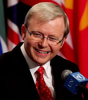 The shifty narratives of Kevin Rudd and Julia Gillard on the carbon tax, the economy and immigration have proven to be politically costly for the ALP. PHOTO: DAILY TELEGRAPH