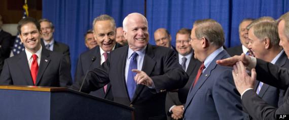 Charles Schumer, Robert Menendez, Richard Durbin, Marco Rubio, John McCain